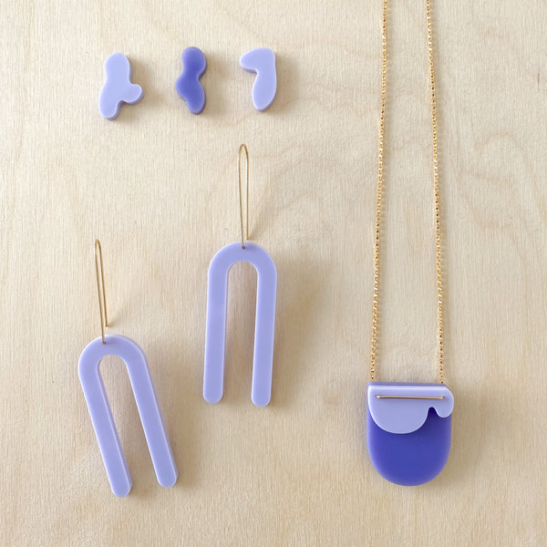Cloud Necklace – True Purple + Violet