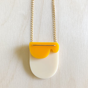 Cloud Necklace – Bone + Yolk