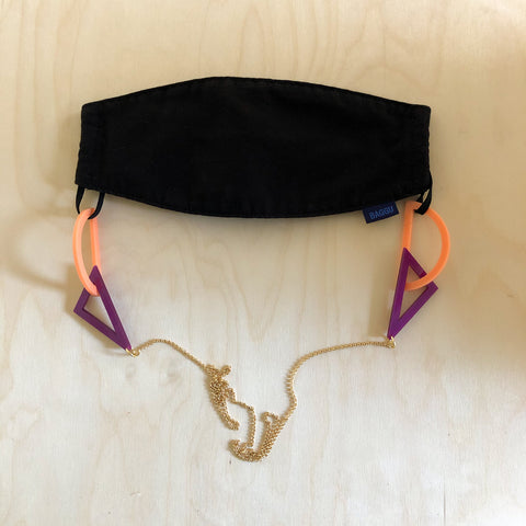 Tilt Mask Chain – Peach + Magenta