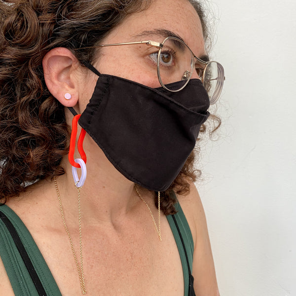 Flate Mask Chain – Fire Red + Violet