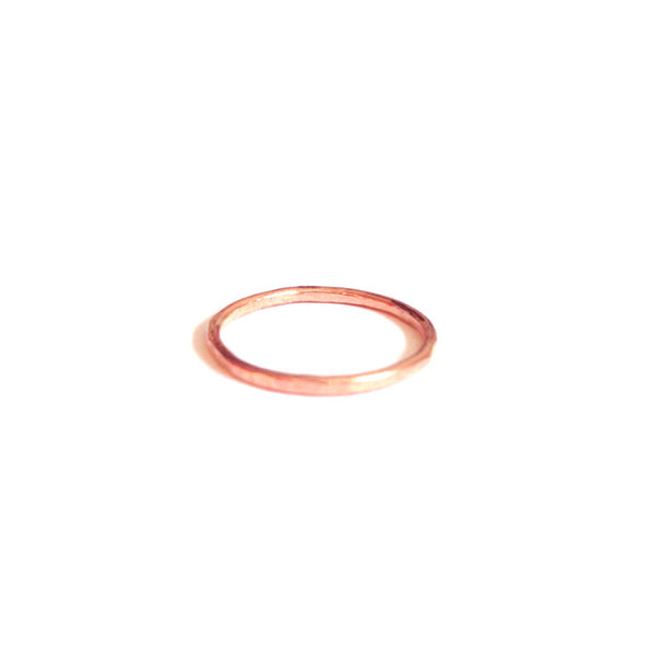 hammered rose gold stacking ring delusions of grandeur los angeles