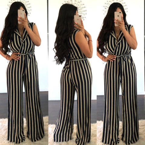 Frida Stripe Jumpsuit