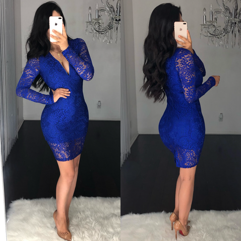 Bellissimo (Royal) Laced Dress