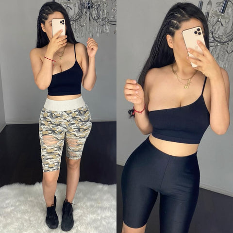 Yaya (Black) Crop Top