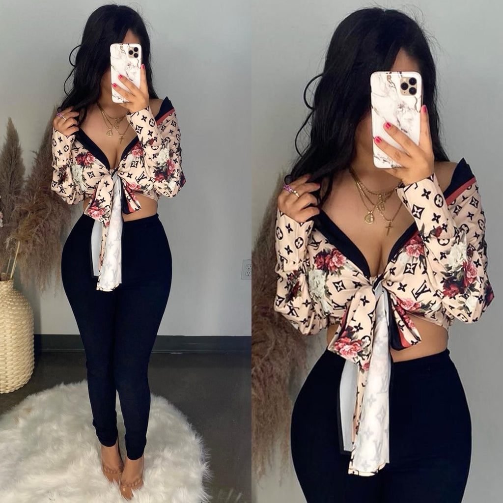LV Floral Inspired Top