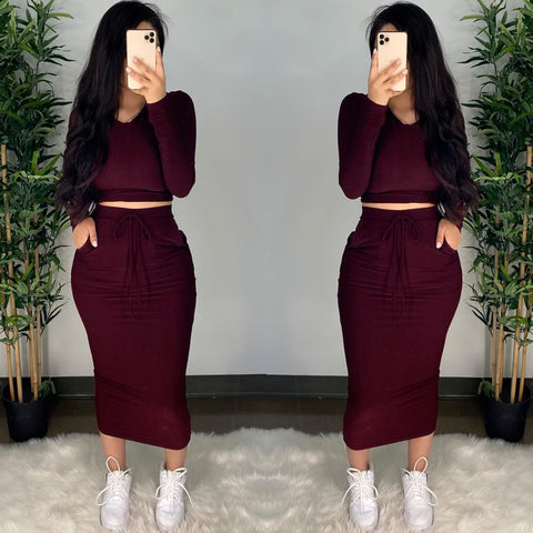 Dream (Burgundy) Sparkle 2PC Set