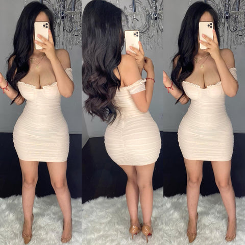 Yasmira Mesh Mini Dress