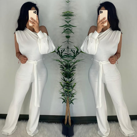Renessa (White) Couture Jumpsuit