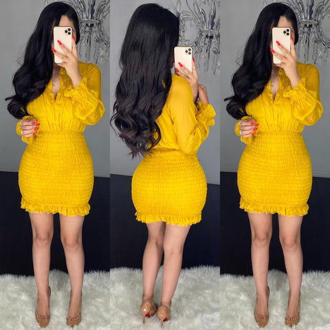 Lennon (Mustard) Dress