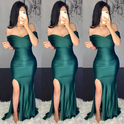Dimitri (Hunter green) Gown