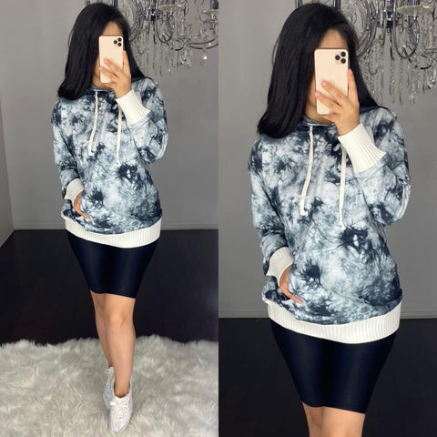 Trish (Grey) Tie Dye Sweater