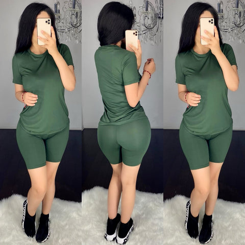 Demi (Olive) Short Set