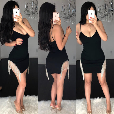 ALL EYES ON ME BLACK  MINI DRESS
