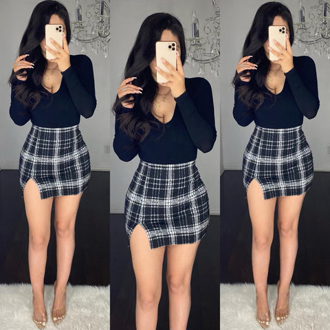 Carlin (Black) Mini Skirt
