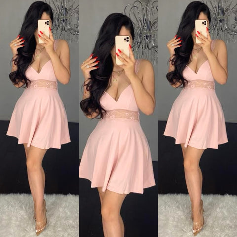 Kay (Blush) Skater Dress