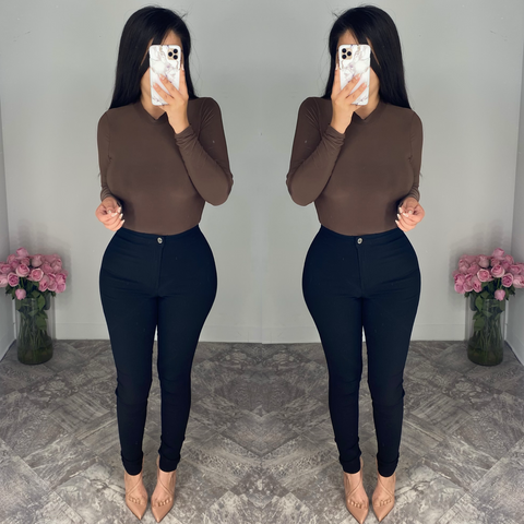 Gina (Brown) Bodysuit