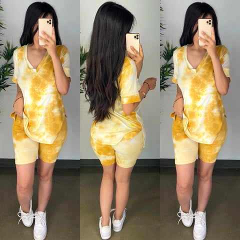 Lovato (Yellow) Tie Dye Set