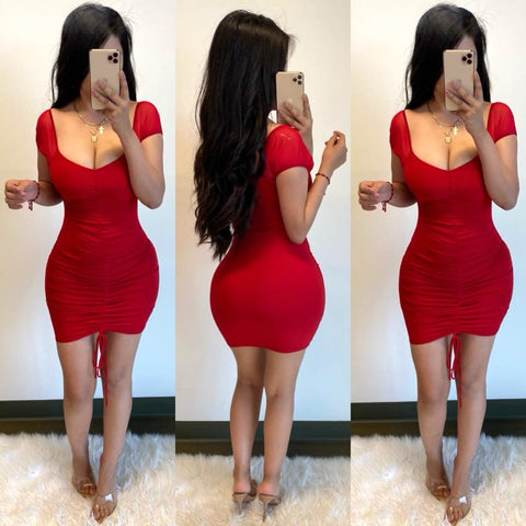 Melanni (Red) Mini Dress