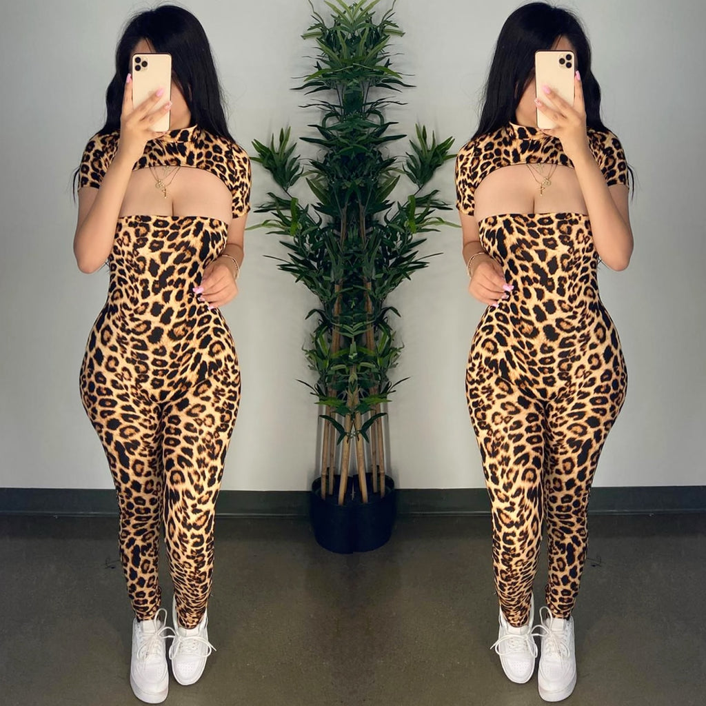 Rutty Leopard Jumpsuit