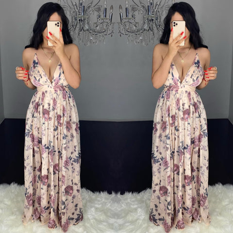 Malenny Floral Maxi Dress