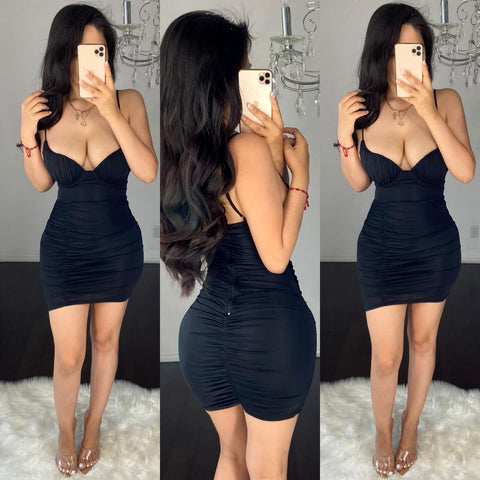 Bianca (Black) Mini Dress