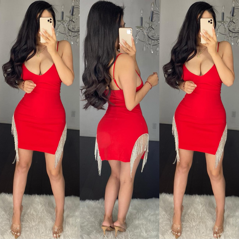 Nicole (Red) Mini Dress