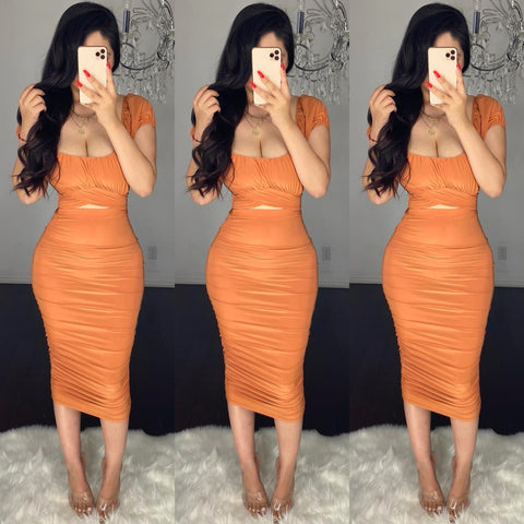 Belle (Rust) Skirt Set