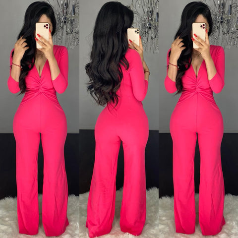 Javiers (Hot Pink) Couture Jumpsuit