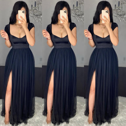Ariana (Black) Mesh Dress