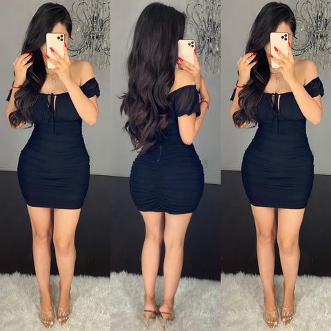 Lexie (Black) Mini Dress