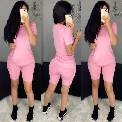 Demi (Pink) Short Set