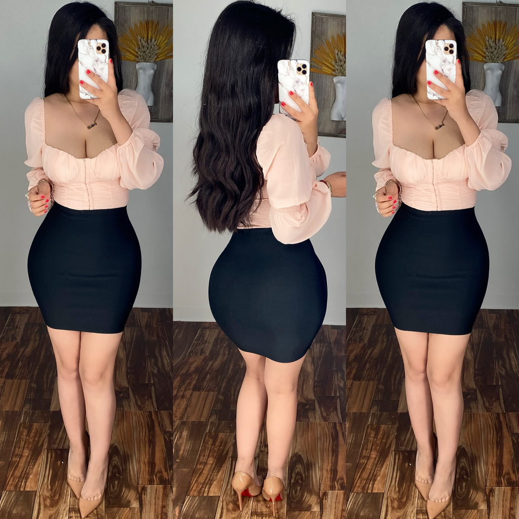 Zuleima (Black) Bandage Mini Skirt