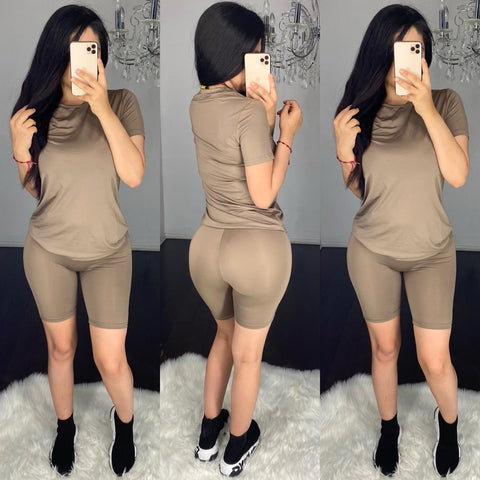 Demi (Dark Taupe) Short Set