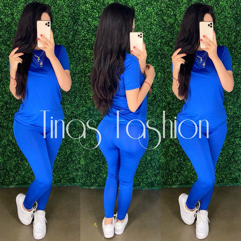 Demi (Royal) Legging Set