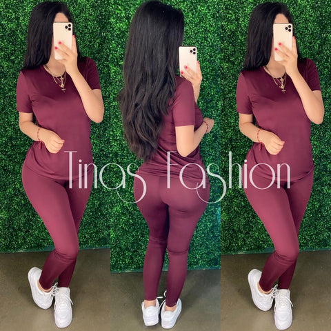 Demi (Plum) Legging Set
