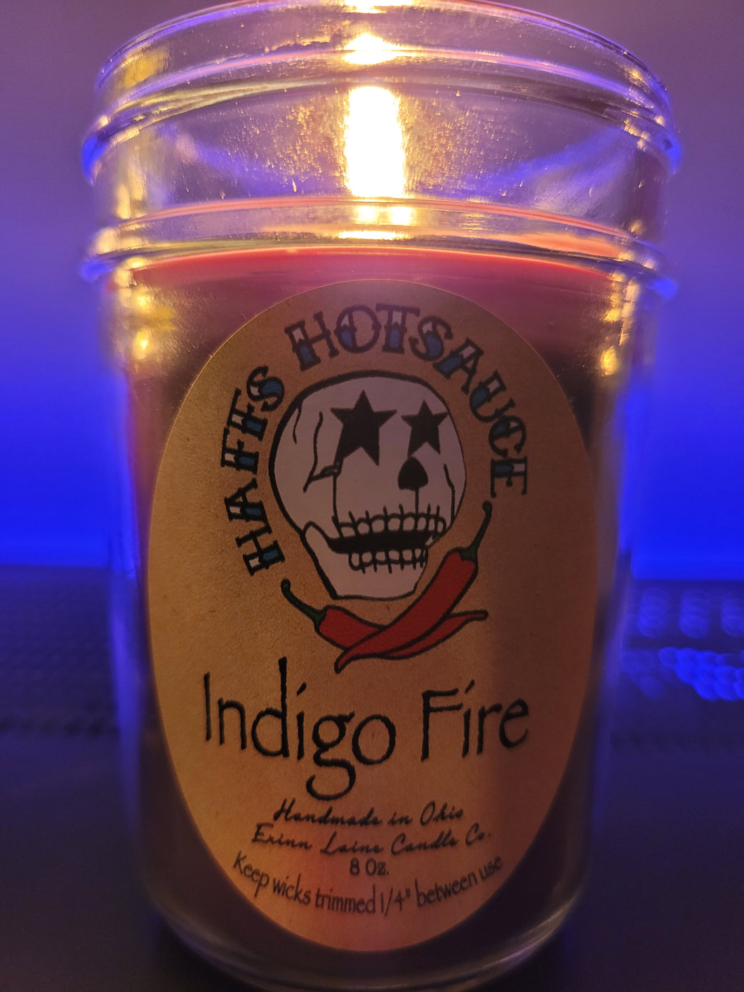 Indigo Fire Candle.