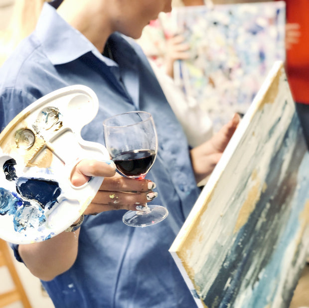 Pe 19.3. Paints and Wine klo 17-19