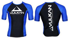 Load image into Gallery viewer, COMPETITION RASHGUARD SHORT/SLEEVE BLUE