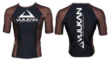 Load image into Gallery viewer, COMPETITION RASHGUARD SHORT/SLEEVE BROWN