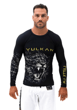 Load image into Gallery viewer, LION RASHGUARD LONG/SLEEVE BLACK