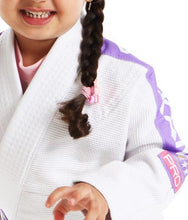 Load image into Gallery viewer, VKN PRO LIGHT KIDS JIU JITSU GI (WHITE/LILAC)