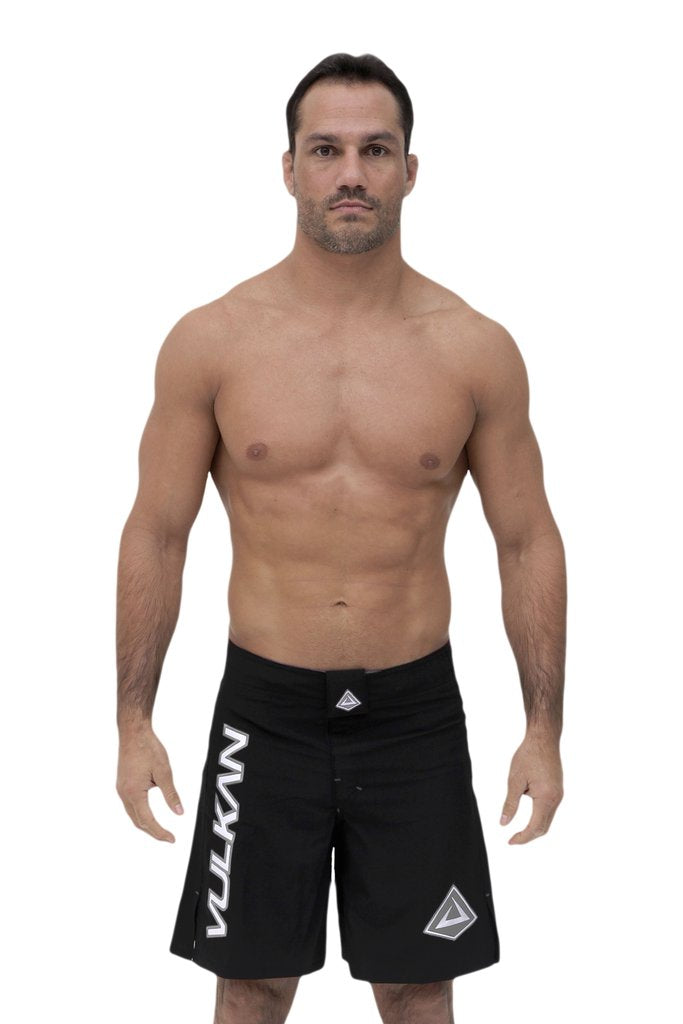 COMBAT FIGHT SHORTS BLACK/GRAY