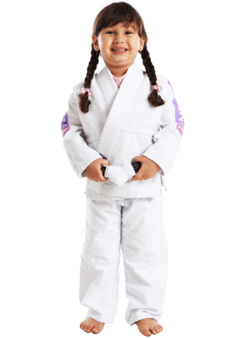 VKN PRO LIGHT KIDS JIU JITSU GI (WHITE/LILAC)