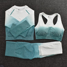 Load image into Gallery viewer, 3pcs Women Ombre Workout Set