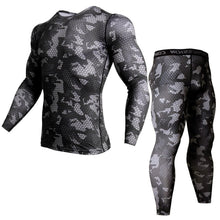 Load image into Gallery viewer, Male Camo Gym Compression Set