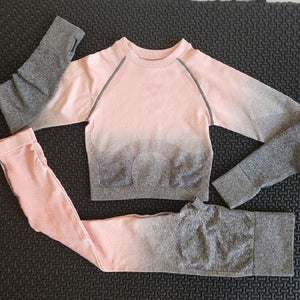 Women Ombre Workout Set