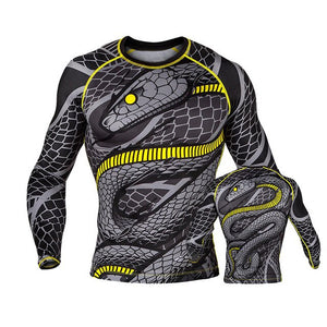 Printed MMA Long Sleeve Compression T-Shirt