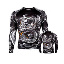 Load image into Gallery viewer, Printed MMA Long Sleeve Compression T-Shirt
