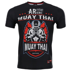 Bjj Rashguard Muay Thai Suit Printed Elastic Compression