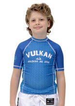Load image into Gallery viewer, FIRST SHORT SLEEVE KIDS RASHGUARD BLUE